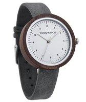 De officiële WoodWatch   Stockholm Grey   Houten horloge dames