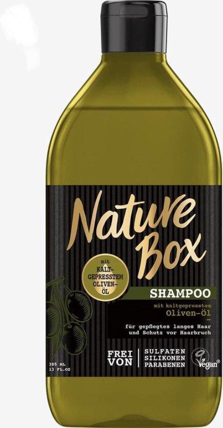 6X385 ml|Nature Box Olive Shampoo| Met Cold-pressed Olijfolie | Siliconenvrij |Sulfaatvrij | % 98 Vegan Formule