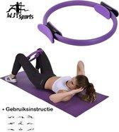 MJ Sports Premium Yoga Pilates Ring Inclusief Gebruiksinstructie - Fitness Cirkel - Buikspiertrainer - Sport Circle - Heup & Dijbeentrainer - Bekkenbodem Trainer - Oefeningen - Weerstandsband