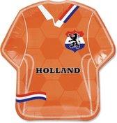 Oranje wegwerpbordjes Oranje Shirt - Milieuvriendelijk wegwerp servies kartonnen bordjes - EK accessoires - Oranje versiering - EK 2021 - EK voetbal - 23 cm