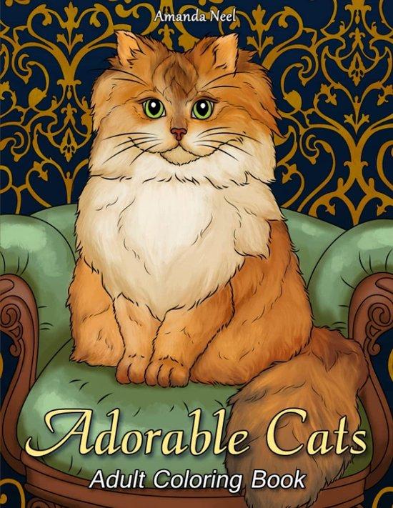 Afbeelding van Adorable Cats: Adult Coloring Book - Amanda Neel