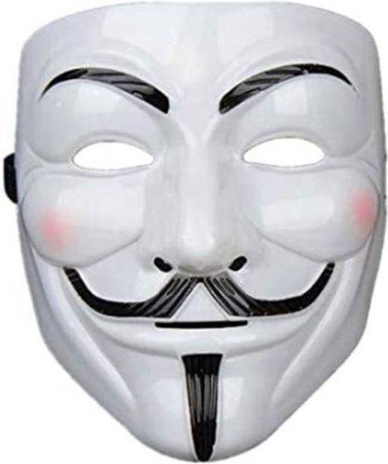 Anonymous Masker · V for Vendetta Masker · Halloween Masker · Zwart · Wit · La Casa de Papel · Guy Fawkes · Carnaval · Bivakmuts