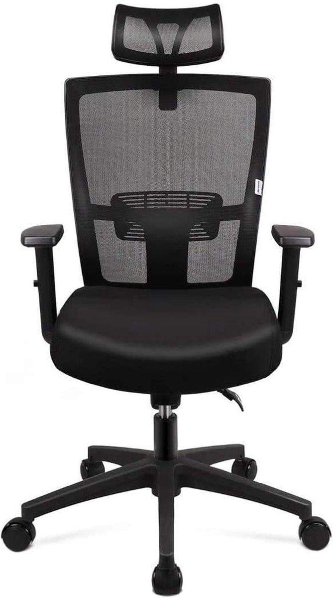 Gutos Bureaustoel | Ergonomisch | Voor volwassenen | Orthopedisch | Met kussen | Rugondersteuning | Bureaustoelen | Zwart | Ergonomische bureaustoel