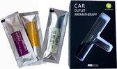 Luxe Auto Luchtverfrisser - 3 Aroma Geuren - Auto verfrisser - Auto Luchtje - Zwart