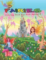 Fairies Coloring Book For Kids Ages 4-8