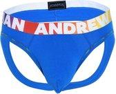 Andrew Christian Cotton Pride Air Jock   Maat S   Electric Blauw   Heren Jockstrap   Mannen Ondergoed