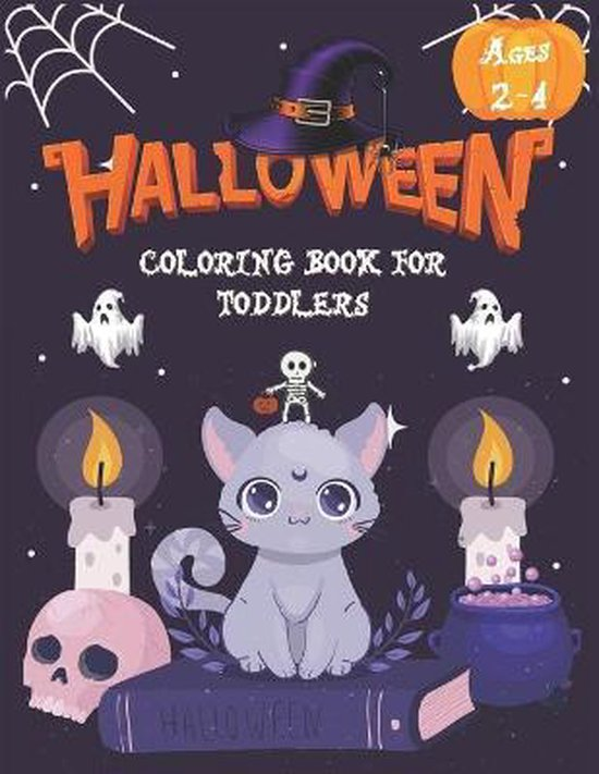Halloween Coloring Book For Toddlers Ages 2-4