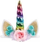 Unicorn cake topper eenhoorn taart versiering cake decoration rainbow