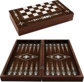 Backgammon - Tavla - Bordspel - 49 x 25,5 x 7,5 cm