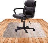 Niceey Vloerbeschermer Bureaustoelmat - 100x140 cm - Vloermat Bureaustoel - Transparant - Voor Harde Vloeren – Met Antislip