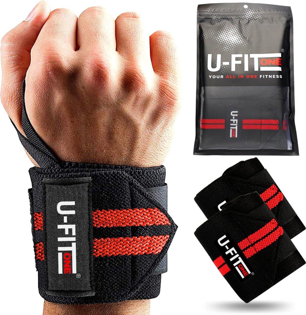 U Fit One  2 Stuks Wrist wraps - krachttraining - Polsbrace - Pols wraps - Polssteun - Polsbandage -