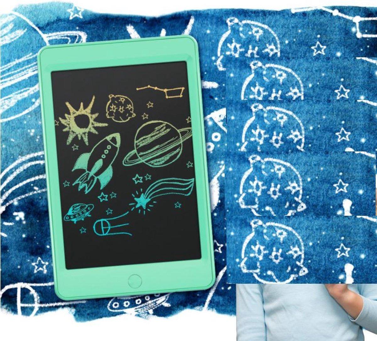 Kinderen LCD Tekenbord Tekentablet MOYU® - Grafische Tablet - Schrijftablet Ontwerppapier Schets Bord- Thuis Onderweg-Zonder Papier- Kleurig Tekenen- Munt Groen 12inch met 2 pens