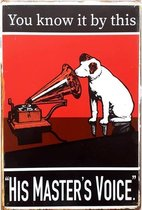 Wandbord Reclamebord - You Know It By This - His Masters Voice