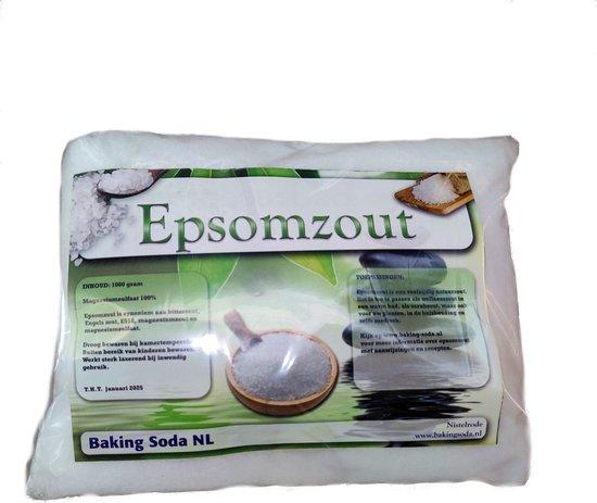 Epsom Zout 100% - Nature Essentials - Bitterzout - Magnesiumsulfaat - Badzout Stressverlichting - Epsom salt - 1 KG