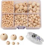 Fako Bijoux® - DIY Houten Kralen Set - Naturel - Sieraden Maken - 6-20mm - 1105 Stuks