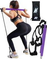 Rebenga Resistance Bar 2.0 + Trainingsschema - Suspension - Multifunctioneel - Full Body Workout - Resistance band set - Weerstandsbanden - Fitness elastiek Booty Band - Pilates - Pilates Bar - Booty Bar - Pilates Stick - Thuis Sporten + GYM ZAK