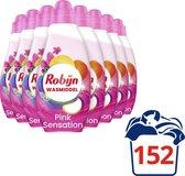 Robijn Klein & Krachtig Color Pink Sensation Vloeibaar Wasmiddel - 8 x 19 wasbeurten - Voordeelverpakking