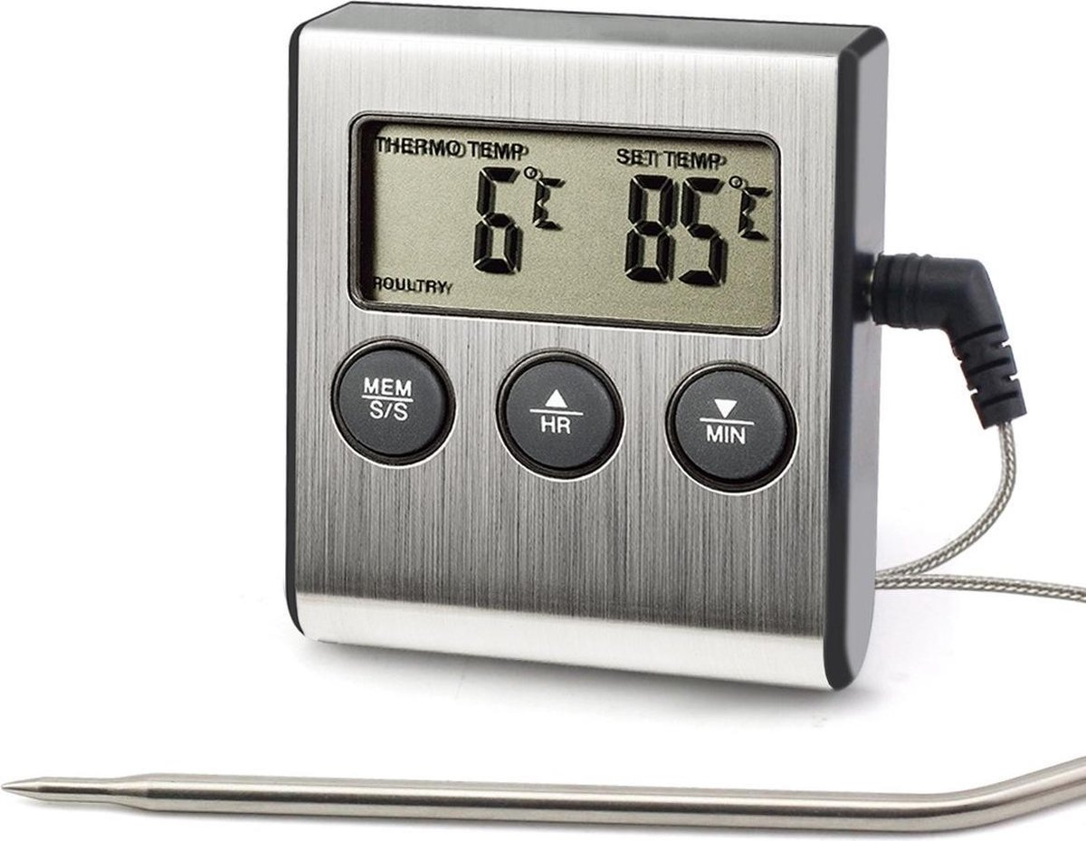 Vleesthermometer Digitaal BBQ Thermometer Draadloos - Kernthermometer - Oventhermometer