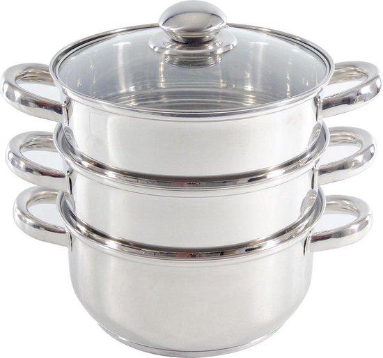 Imperial Kitchen Stoompan - 20 cm - 3 delig - 21 x 26cm