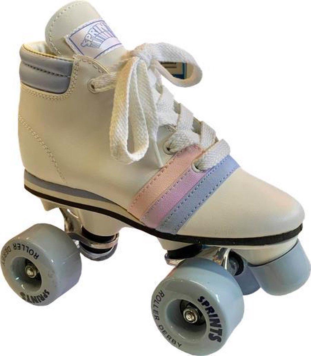ROLLER DERBY Sprints - Rolschaatsen - Retro - Kinderen - Wit - Maat 33