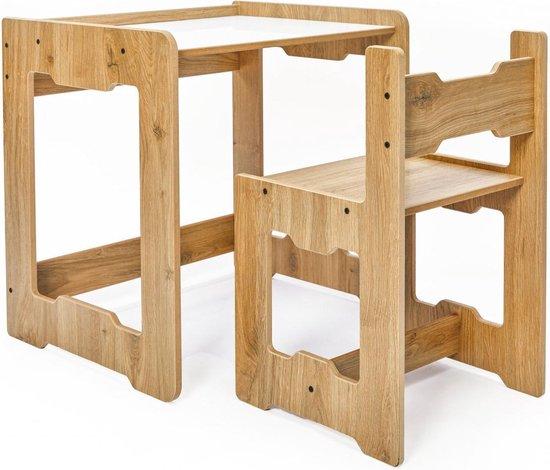 Minera Europe® Seagull Montessori Kindertafel - Activiteiten Tafel - Speeltafel voor Kinderen - Kindertafel voor Baby's & Peuters – Kinderbureau met stoel - Kindertafel en stoeltjes - 1 tm 6 jaar