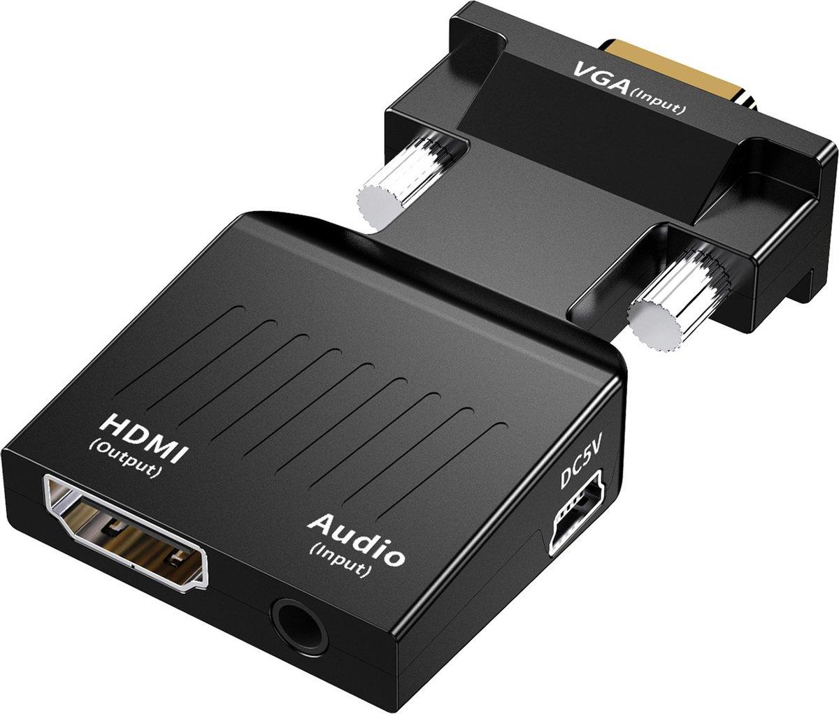 Garpex® VGA naar HDMI adapter – 1080P Full HD  Universele Converter – Analoog naar Digitaal