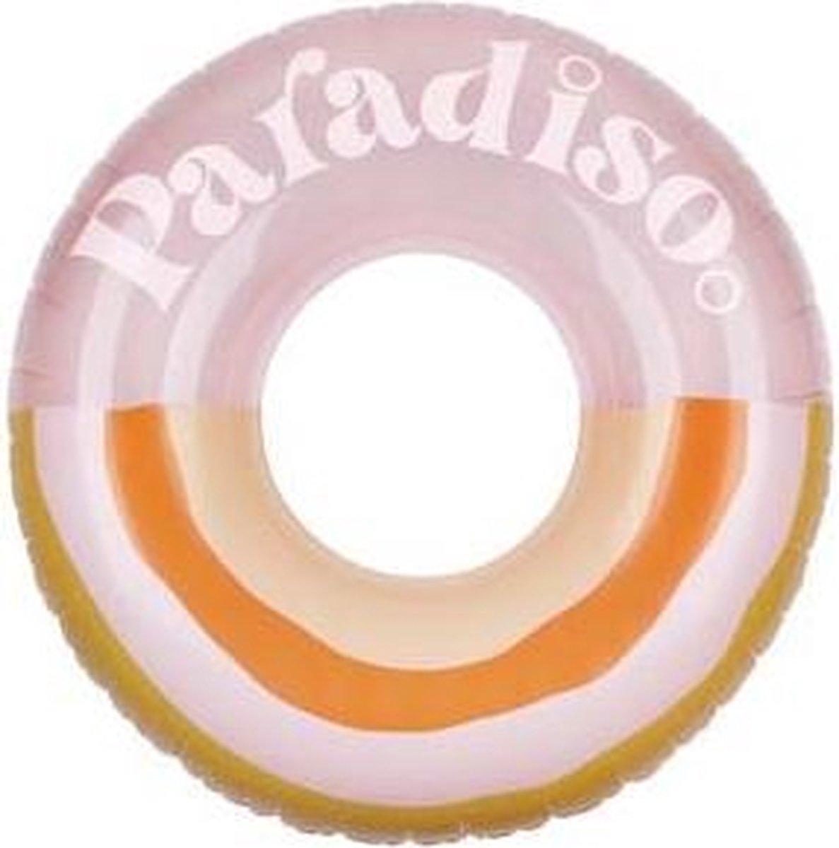 Sunnylife - Zwemband Paradiso - opblaasbaar - 110 x 110 x 35cm - max 100kg. - Multi color