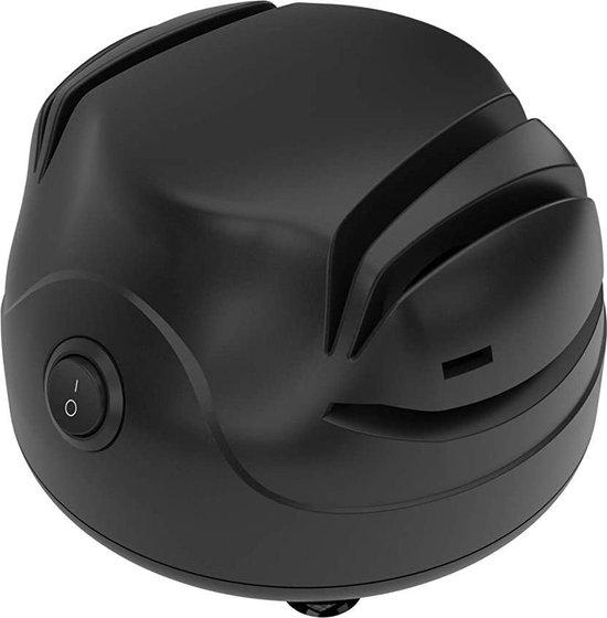 LuKitchen 3in1 Elektrische Messenslijper - Messenslijpers - Messenslijper Elektrisch - Messenslijper - Scharenslijper - Slijpsteen - Aanzetstaal - Nieuwste model - Zwart