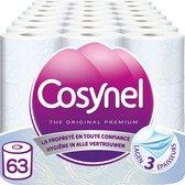 Cosynel Blauw Toiletpapier - 3 lagen - 63 rollen