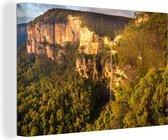 Grose-Vallei in Nationaal park Blue Mountains in Nieuw Zuid-Wales Canvas 180x120 cm - Foto print op Canvas schilderij (Wanddecoratie woonkamer / slaapkamer) XXL / Groot formaat!