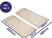 Mister Sandman - Lattenbodem - 180x200 (2x 90x200) - Set voor elk bedframe