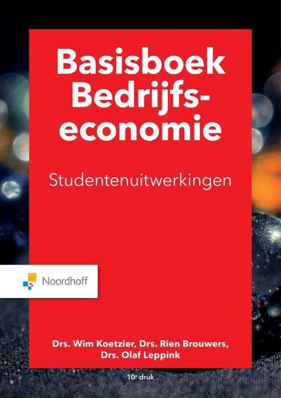 Boek cover Basisboek bedrijfseconomie uitwerkingen van M.P. Brouwers (Paperback)