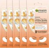 Garnier SkinActive Tissue Oogmasker - 5 Stuks - Sinaasappelsap en Hyaluronzuur - Voordeelverpakking