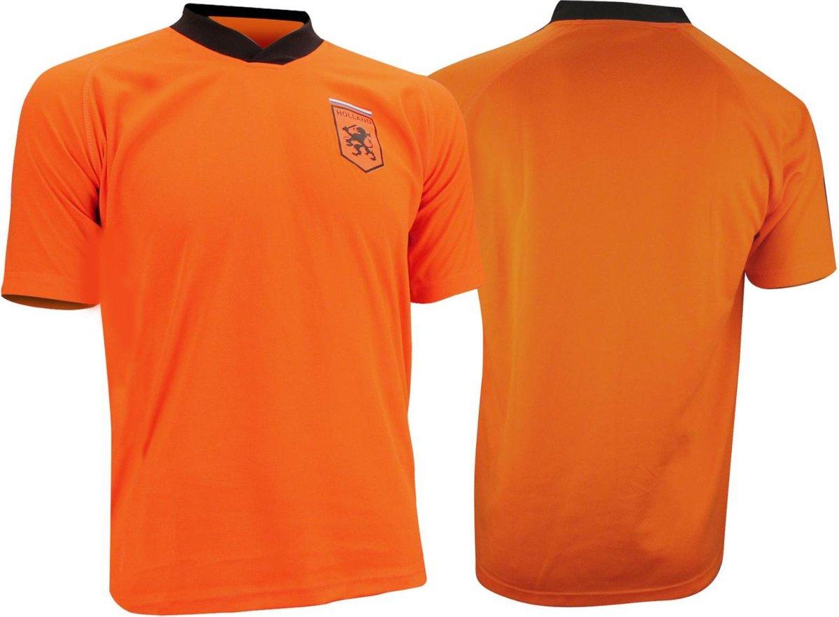 Nederland Voetbalshirt Supporter Senior Oranje/zwart Maat L
