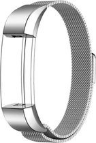 YONO Milanees Bandje Zilver voor Fitbit Alta HR - Vervangende RVS Armband met Magneetsluiting – Small