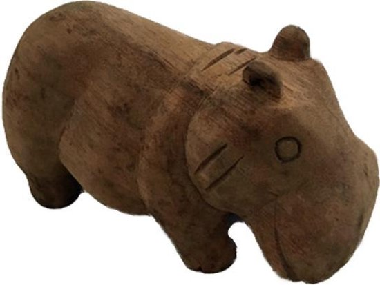 Bol Com Houten Nijlpaard Hippo Houten Dieren Decoratie Beeld