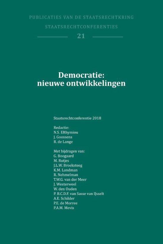 Publikaties van de Staatsrechtkring 2018 -   Democratie: nieuwe ontwikkelingen