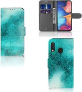 Samsung Galaxy A20e Smartphone Hoesje Painting Blue