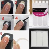Paie Nagelsticker French Manicure - 102 stuks