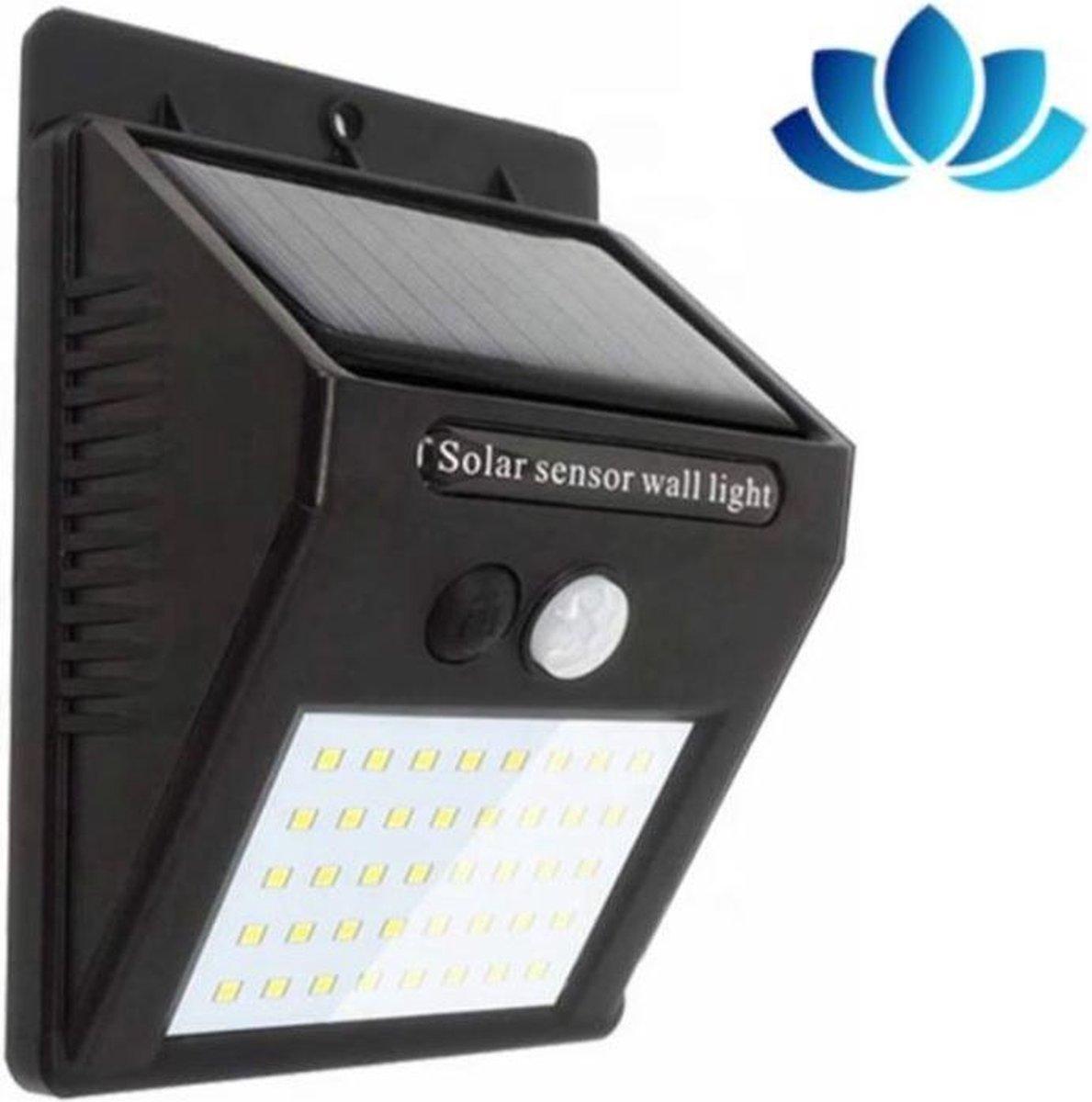Automatische Solar 48 LED verlichting met bewegingssensor   Wand lamp   Buiten lamp