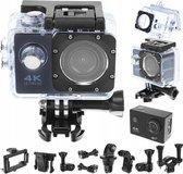 ISOTEC - Action Camera 4k Ultra HD - Actie Camera - 4k Ultra HD – 18 Megapixel – WiFi - inclusief uitgebreide Action Cam accessoire set –  inclusief 32 GB micro SD kaart - Zwart