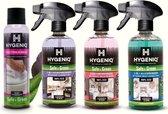 HYGENIQ® Groene algemene huishoud schoonmaakmiddelen - Badkamerreiniger - 3-in-1 allesreiniger - 2-in-1 keukenreiniger - toiletbrilreiniger