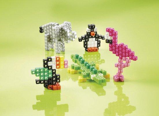 Totum tropical zoo -  3D dierentuindieren pixelen - knutselset met meer dan 300 pixel beads