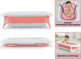 Baby badje opvouwbaar met comfortabel kussen - babybadje - geschikt van 0-6 jaar - Roze