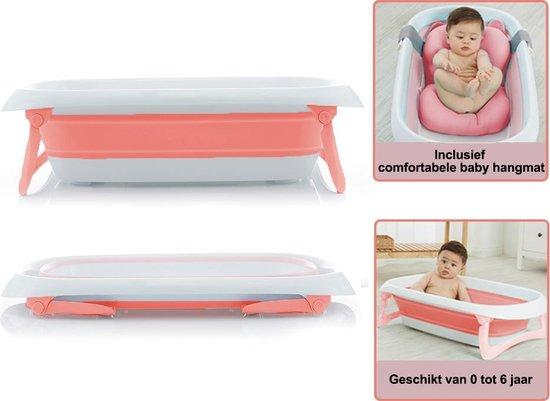 Product: Baby badje opvouwbaar met comfortabel kussen - babybadje - geschikt van 0-6 jaar - Roze, van het merk IMPAQT