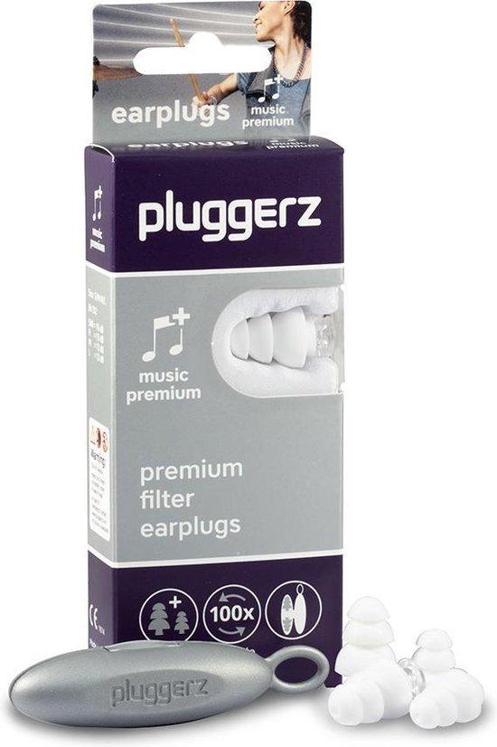 Pluggerz earplugs music Premium - Oordoppen voor muziekliefhebbers - Met speciaal muziekfilter - Genieten zonder geluidsvervorming