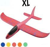 Zweefvliegtuig wegwerp rood  XL | extra groot | speelgoed vliegtuig | vliegtuig kinderen | vliegtuig speelgoed piepschuim