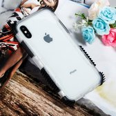 Let op type!! Blade Acrylic + TPU Shockproof Protective Case for iPhone XR(Black)