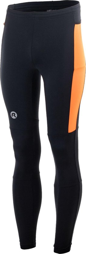 Rogelli Rogelli Ecplise Hardlooptight  Sportbroek - Maat XL  - Mannen - Zwart/Oranje