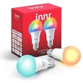 Innr slimme lampen E27 color - werkt met Philips Hue*- Zigbee smart LED - 2 pack